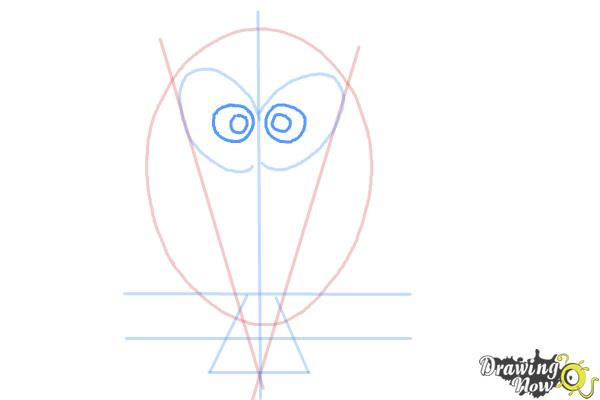 How to Draw a Simple Owl - Step 6