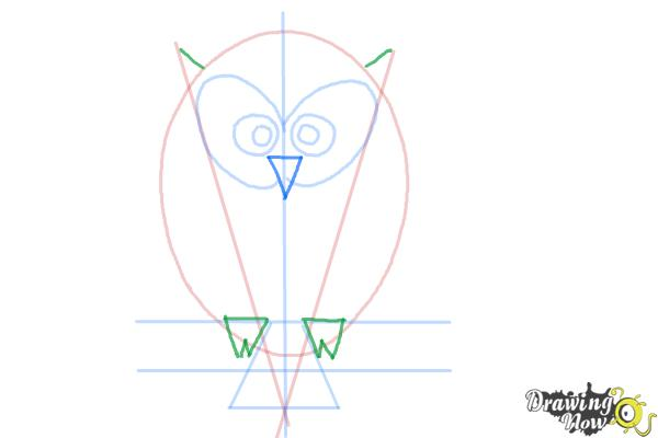 How to Draw a Simple Owl - Step 7