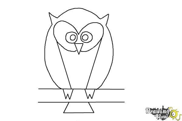 How to Draw a Simple Owl - Step 8