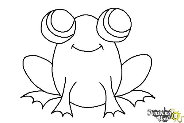 How to Draw a Simple Frog - Step 8