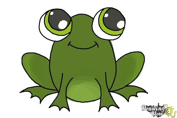 How to Draw a Simple Frog - DrawingNow