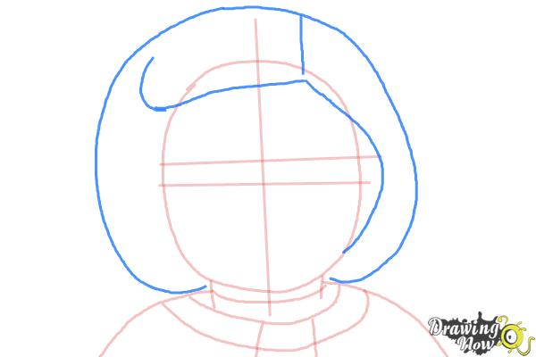 How to Draw Kit, Doll from American Girl - Step 5
