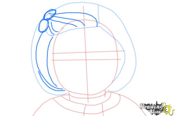 How to Draw Kit, Doll from American Girl - Step 6