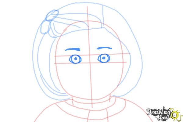 How to Draw Kit, Doll from American Girl - Step 7