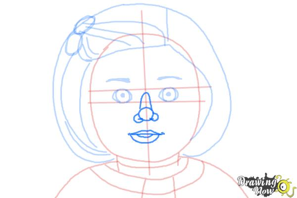 How to Draw Kit, Doll from American Girl - Step 8