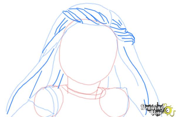 How to Draw Isabelle, Doll from American Girl - Step 6