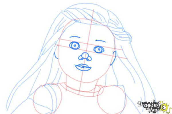 How to Draw Isabelle, Doll from American Girl - Step 8