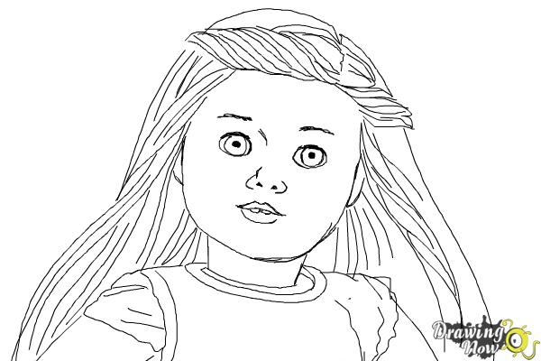How to Draw Isabelle, Doll from American Girl - Step 9