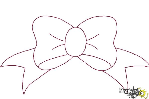 how to draw a simple bow step 7