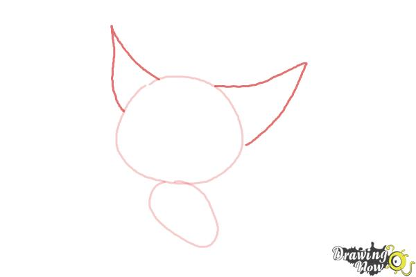 How to Draw a Baby Fox - Step 3