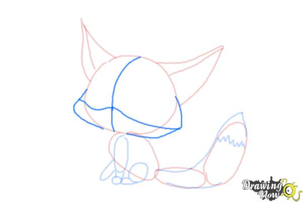 How to Draw a Baby Fox - Step 7