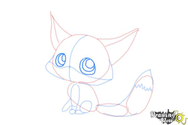 How to Draw a Baby Fox - Step 8