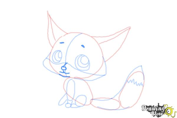 How to Draw a Baby Fox - Step 9