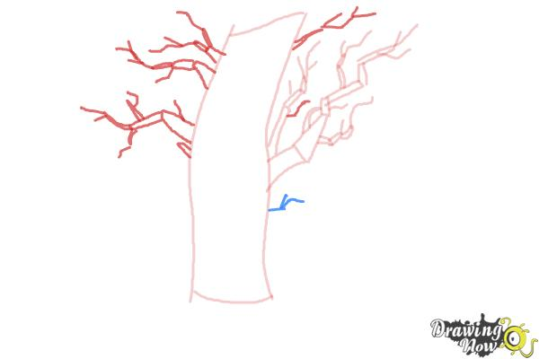 How to Draw a Scary Tree - Step 4