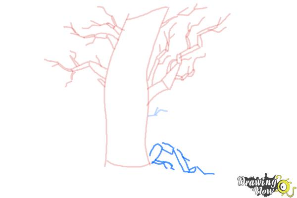 How to Draw a Scary Tree - Step 5
