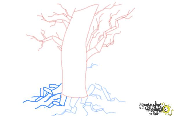 How to Draw a Scary Tree - Step 7