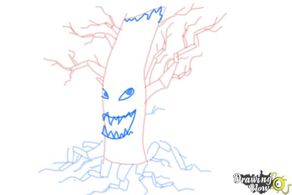 How to Draw a Scary Tree - Step 8