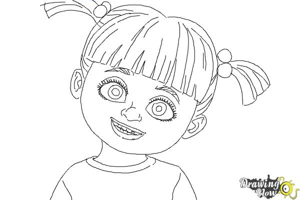 How To Draw Boo From Monsters Inc Drawingnow