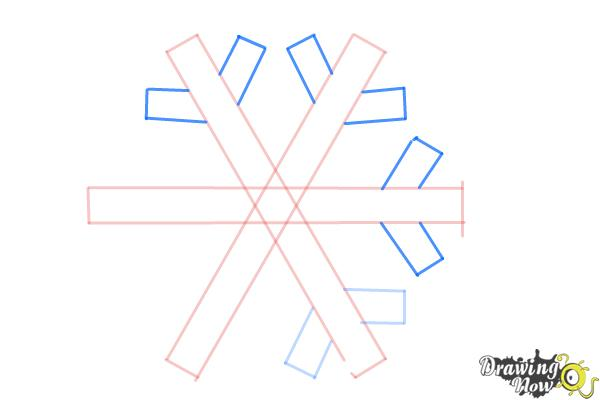 How to Draw a Simple Snowflake - Step 5