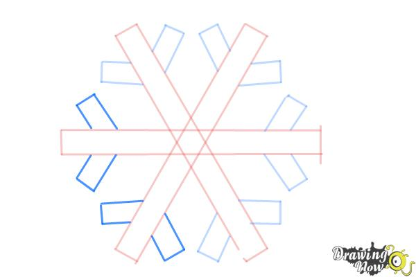 How to Draw a Simple Snowflake - Step 6