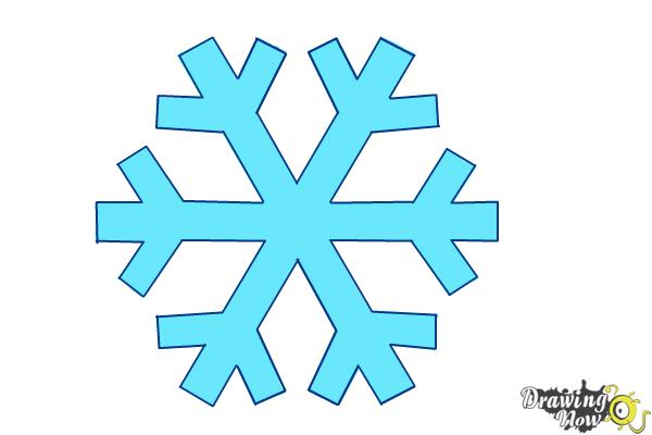 How to Draw a Simple Snowflake - Step 8