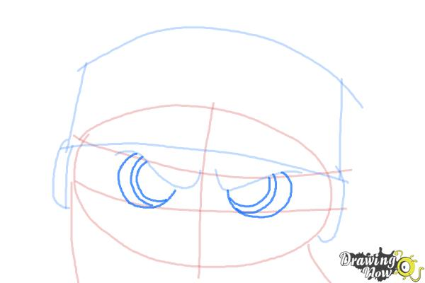 How to Draw Short Fuse from The Penguins Of Madagascar - Step 5