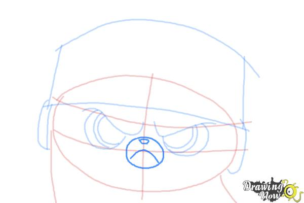 How to Draw Short Fuse from The Penguins Of Madagascar - Step 6