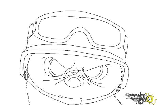 How to Draw Short Fuse from The Penguins Of Madagascar - Step 9