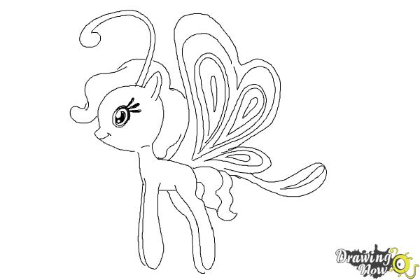How to Draw Cloudia Breezie from My Little Pony Friendship is Magic - Step 10
