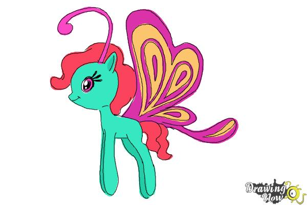 How to Draw Cloudia Breezie from My Little Pony Friendship is Magic - Step 11