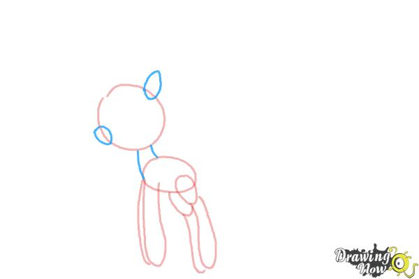 How to Draw Cloudia Breezie from My Little Pony Friendship is Magic - Step 4