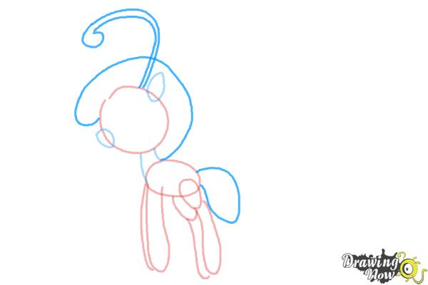 How to Draw Cloudia Breezie from My Little Pony Friendship is Magic - Step 5