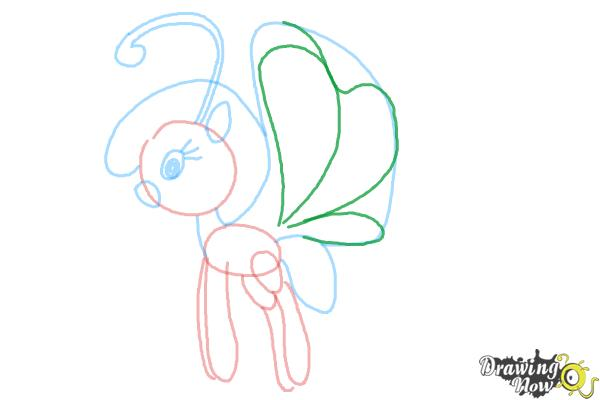 How to Draw Cloudia Breezie from My Little Pony Friendship is Magic - Step 7