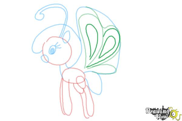How to Draw Cloudia Breezie from My Little Pony Friendship is Magic - Step 8