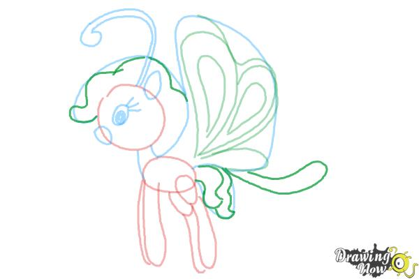 How to Draw Cloudia Breezie from My Little Pony Friendship is Magic - Step 9