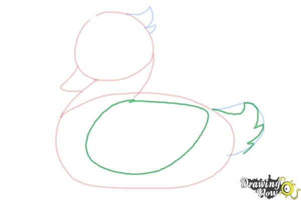 How to Draw a Simple Duck - Step 4