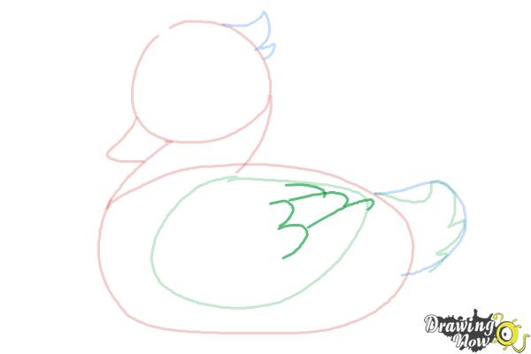 How to Draw a Simple Duck - Step 5