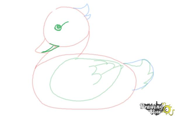 How to Draw a Simple Duck - Step 6