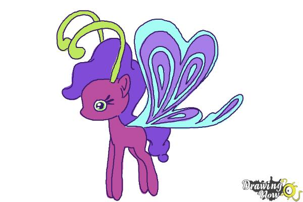 How to Draw Lilac Breezie from My Little Pony Friendship is Magic - Step 11
