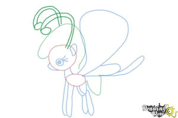 How to Draw Lilac Breezie from My Little Pony Friendship is Magic - Step 8