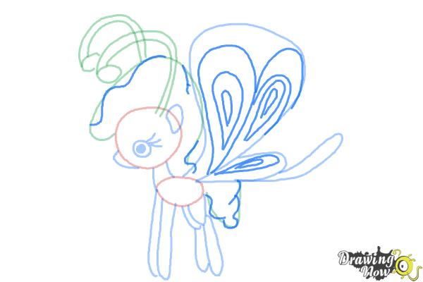 How to Draw Lilac Breezie from My Little Pony Friendship is Magic - Step 9