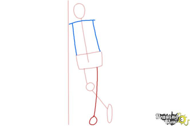 How to Draw a Simple Person - Step 3
