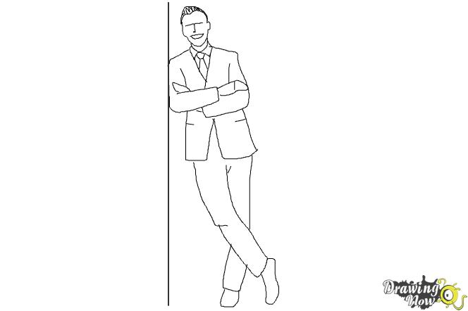 How to Draw a Simple Person - Step 9