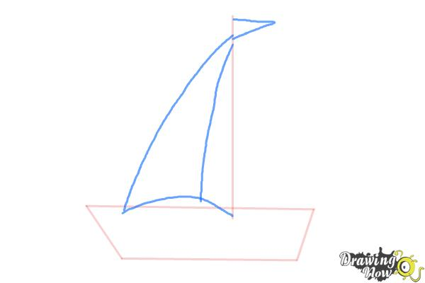 How to Draw a Simple Boat - Step 2