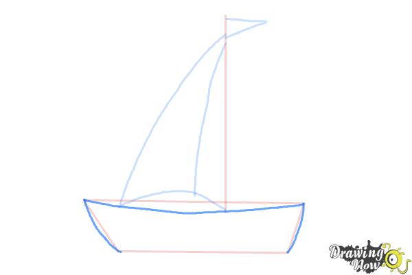How to Draw a Simple Boat - Step 3