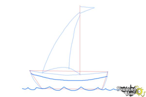 How to Draw a Simple Boat - Step 4
