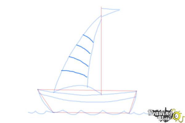 How to Draw a Simple Boat - Step 5