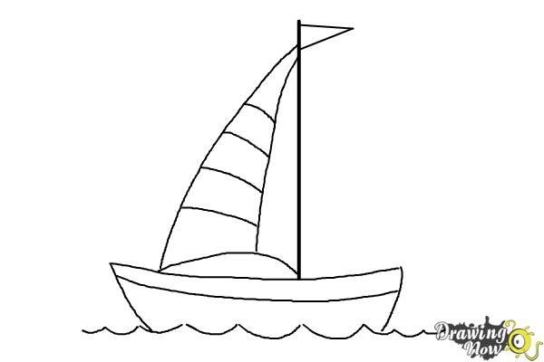 How To Draw A Simple Boat Drawingnow