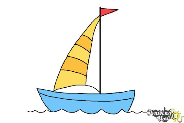 How to Draw a Simple Boat - Step 7