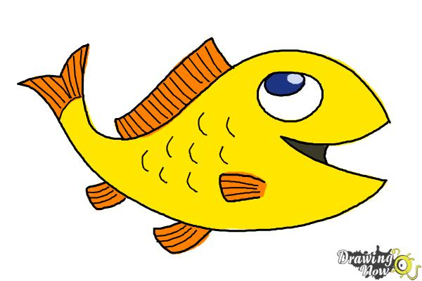 How to Draw a Simple Fish - Step 11